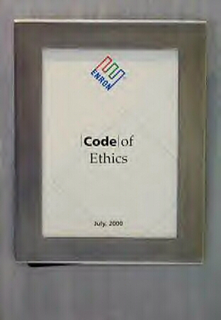 enron scandal with code of ethics For example, in july 2000, enron distributed a code of ethics to all of its  employees, and, according to the washington post, in a memo,.
