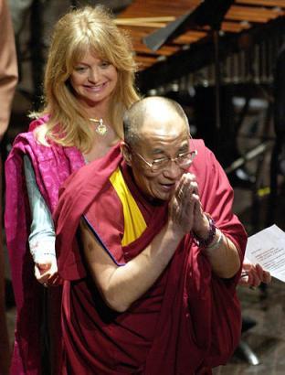 Image result for Goldie Hawn Dalai Lama