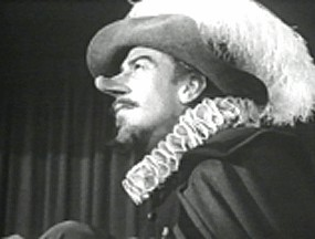 an analysis of the character cyrano de bergac portrayed by jose ferrer as a brave and boastful man It is entirely appropriate that cyrano - whose very name evokes the notion of grand romantic gestures - should have lived his life bereft of romance what is romanticism, after all, but a bold cry about how life should be, not about how it is and so here is cyrano de bergerac, hulking, pudding-faced, with a nose so large he is convinced.