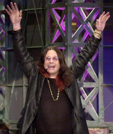 Ozzy Osborne makes an unannounced appearance during the taping of 'The Tonight Show'. Photo by E.J. Flynn