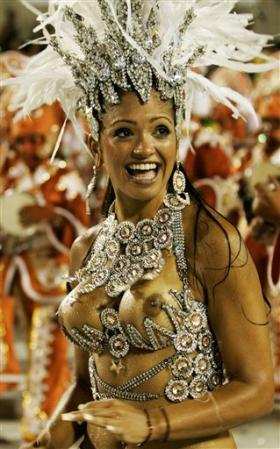 rio carnival naked nude   ActualXXX Images Boobie Blog A reveler of Portela samba school performs during the first night of  Carnival parade at the