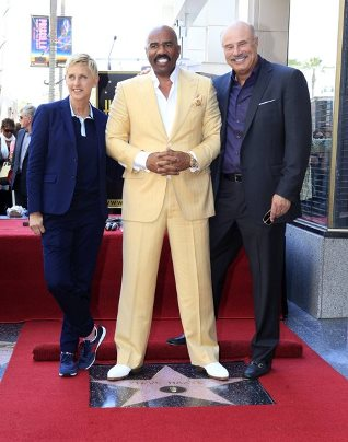 Photo of Phil Mcgraw & his friend  Steve Harvey