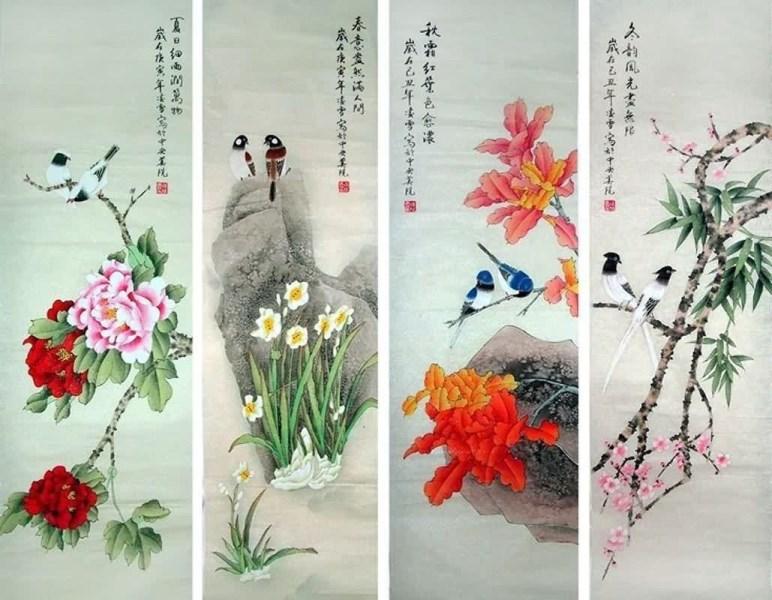 Как сделать китайские цветы 772